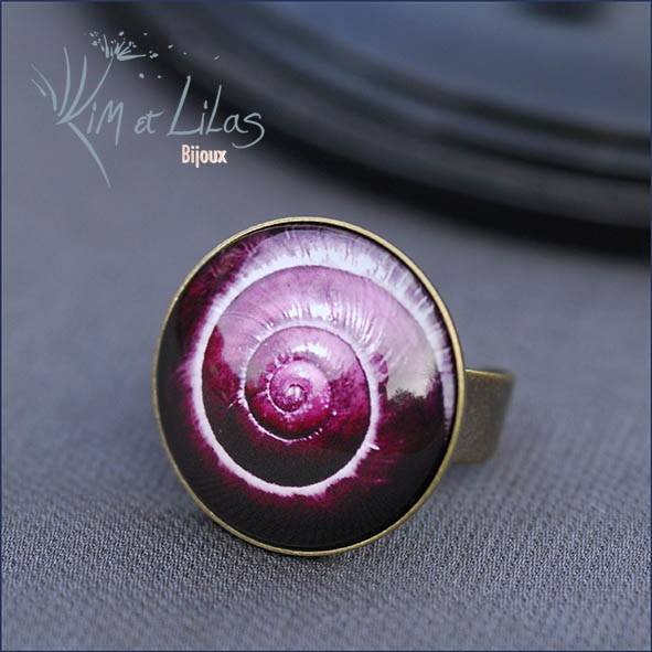Bague Naturalia Escargot rose