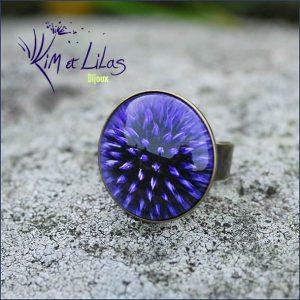 Bague Cœur Violet