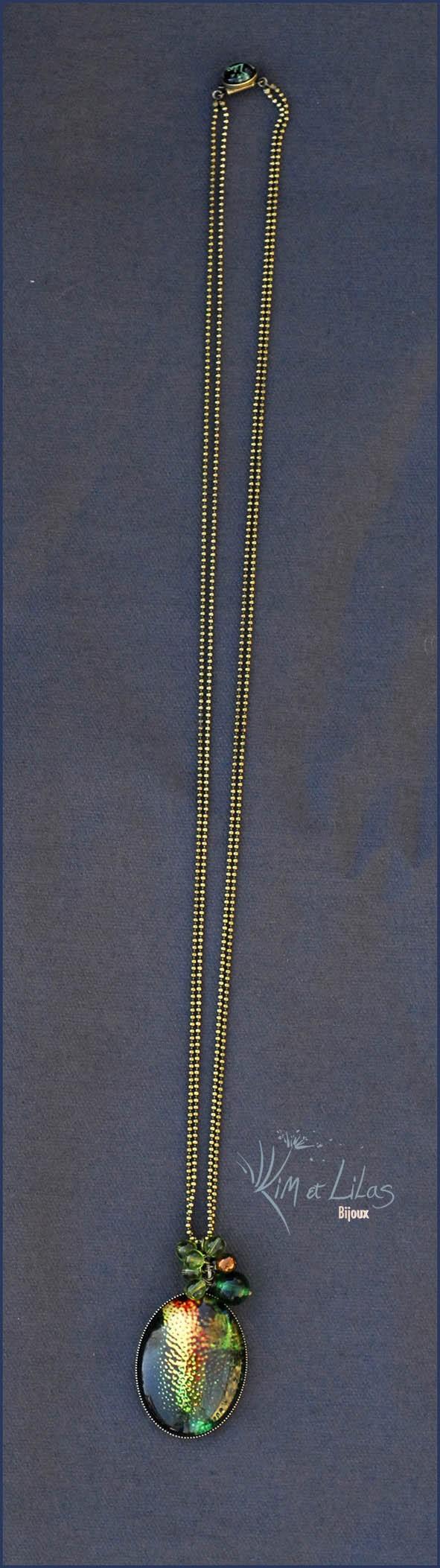Collier long Naturalia Insecte bijou
