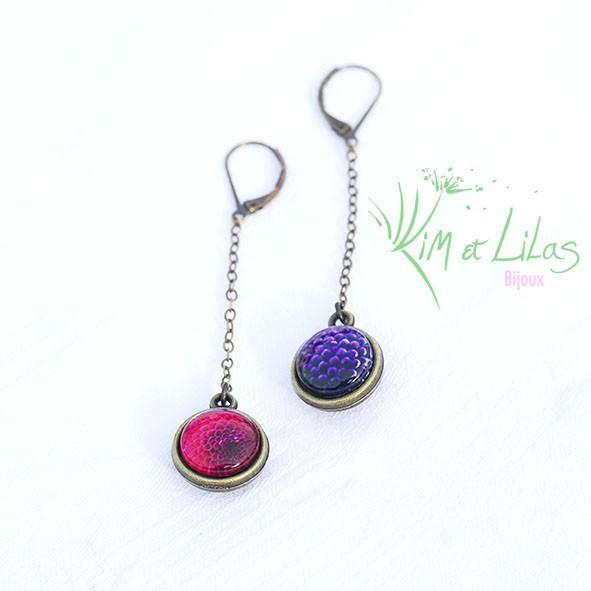 Bo 'Au coeur du jardin' fuschia et violet