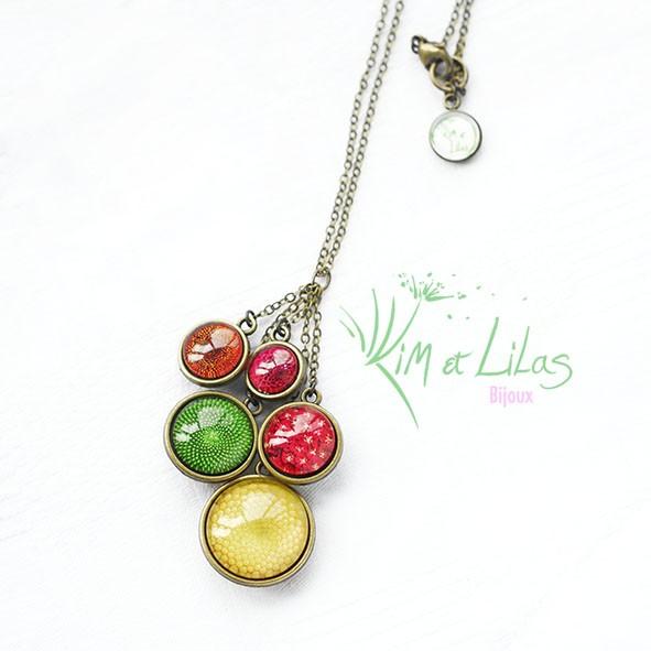 Collier 'Au coeur du jardin' multicolore