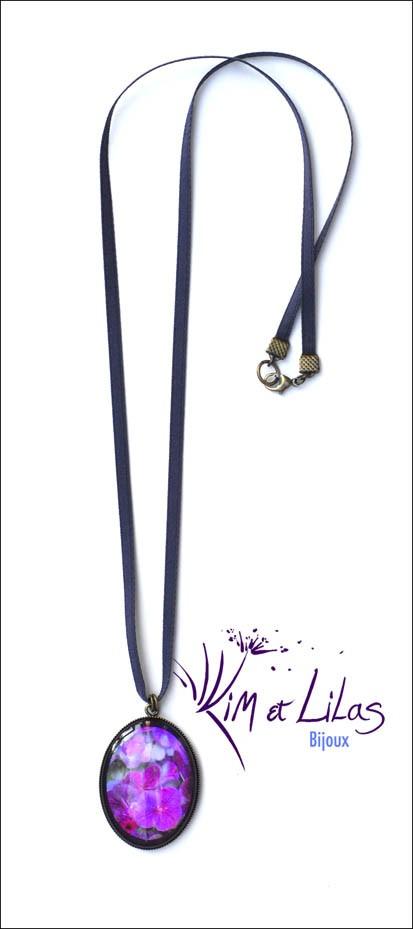Collier long Hortensia