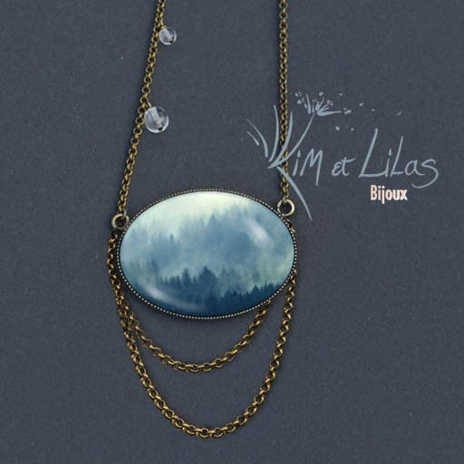 Collier long 'Brumes'