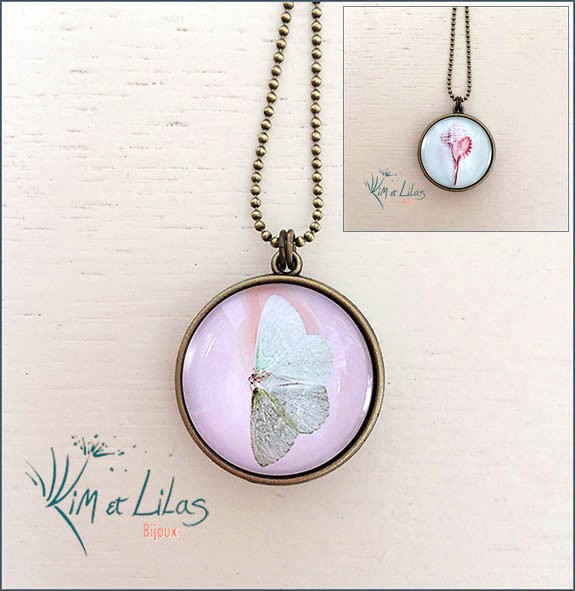 Collier long double face 'Entre ciel et mer'