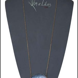 Collier long, horizontal 'Au bord du lac'