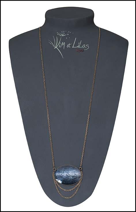 Collier long, horizontal 'Au bord du lac'