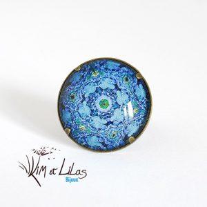 Bague Sulfure bleu