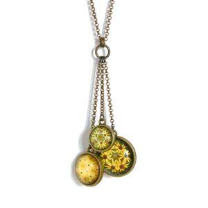 Collier long Millefiori jaune soleil ©Kim et Lilas