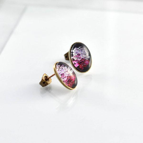 Boucles d'oreilles clou collection Hana ©Kim et Lilas