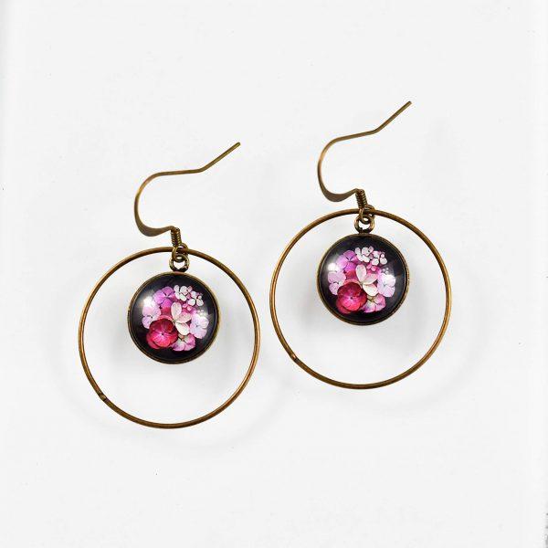 Boucles d'oreilles créoles collection Hana ©Kim et Lilas