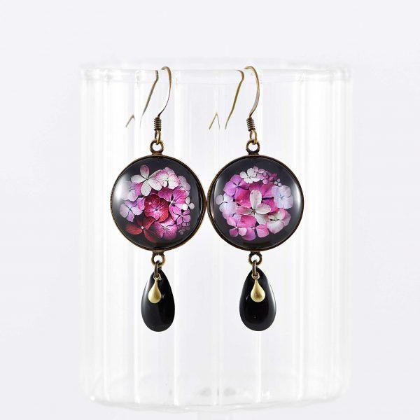 Boucles d'oreilles rondes collection Hana ©Kim et Lilas