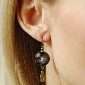 Boucles d'oreilles image pleine lune