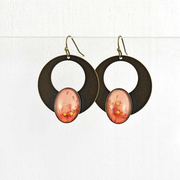 Boucle d'oreille 'été indien' grand modèle ©Kim et lilas