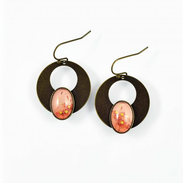 Boucle d'oreille 'été indien' ©Kim et lilas