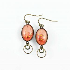 Boucles d'oreilles petites ovales 'été indien' ©Kim et Lilas