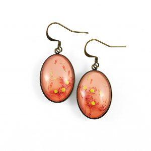 Boucles d'oreilles ovales 'été indien' ©Kim et Lilas