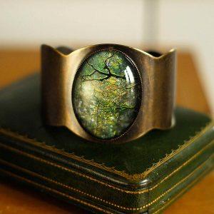 bracelet manchette 'branche' ambiance forêt ©kim et lilas