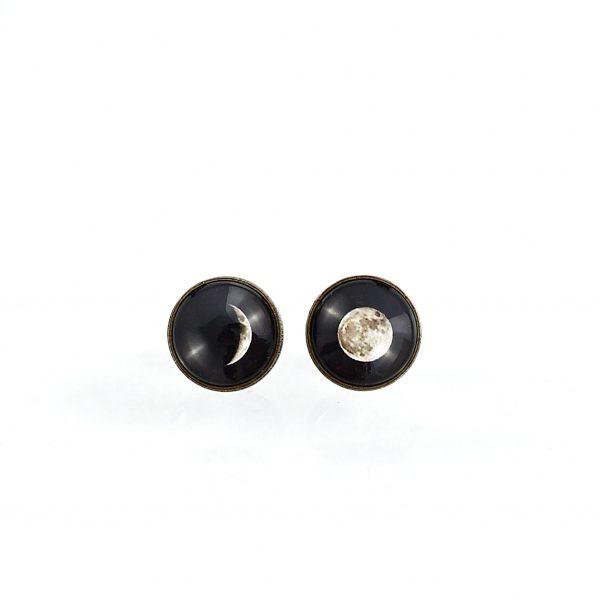Boucles d'oreilles clou 'clair de lune' ©kim et lilas