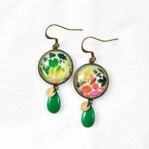 Boucles d'oreilles récolte de couleurs d'automne